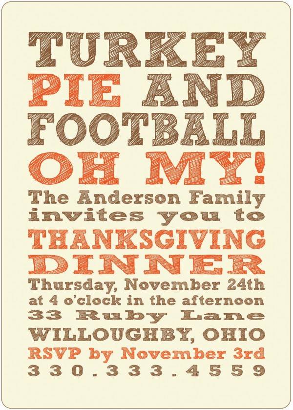 Thanksgiving Invitation Inspiration