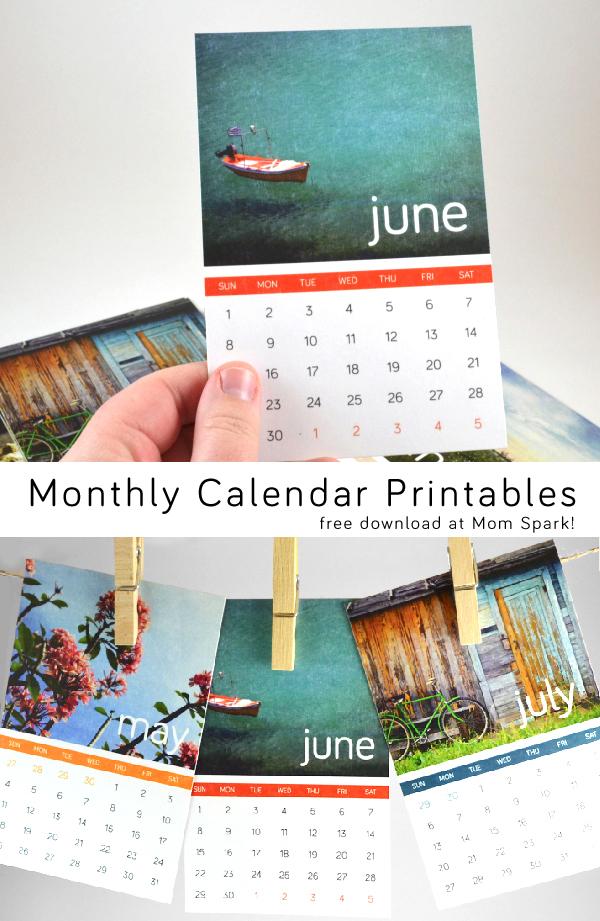 2014 Free Printable Calendar Cards