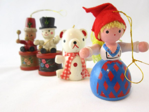 Vintage Wooden Christmas Ornaments