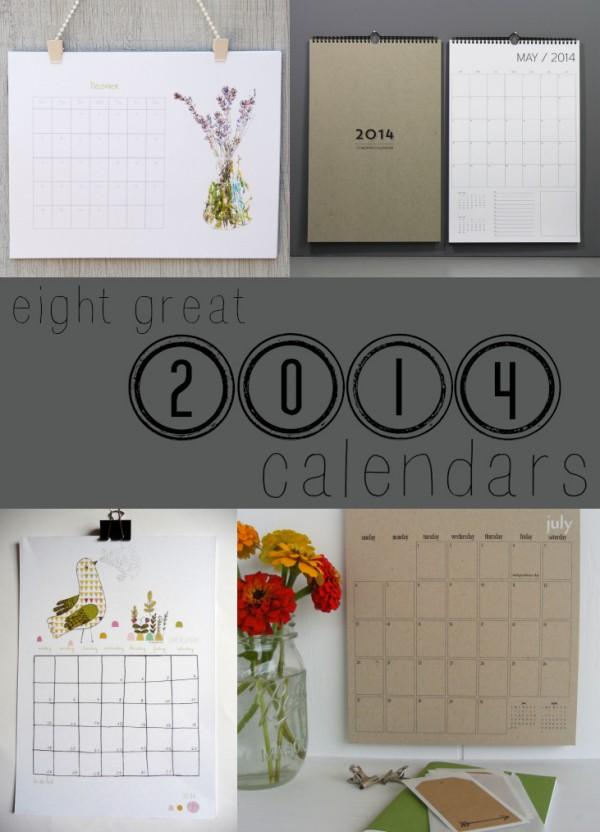 Calendar Ideas for the New Year 2014
