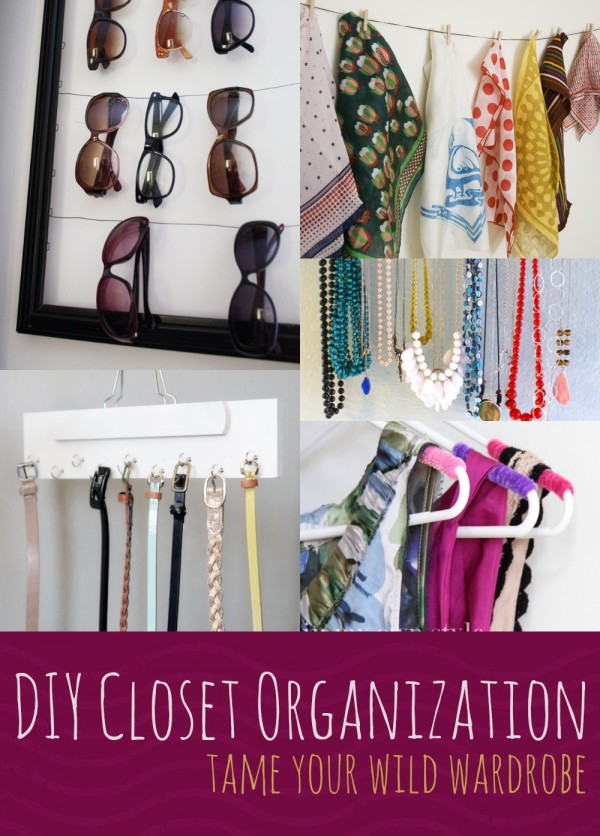 Diy closet organization mom spark mom blogger Diy wardrobe organising ideas