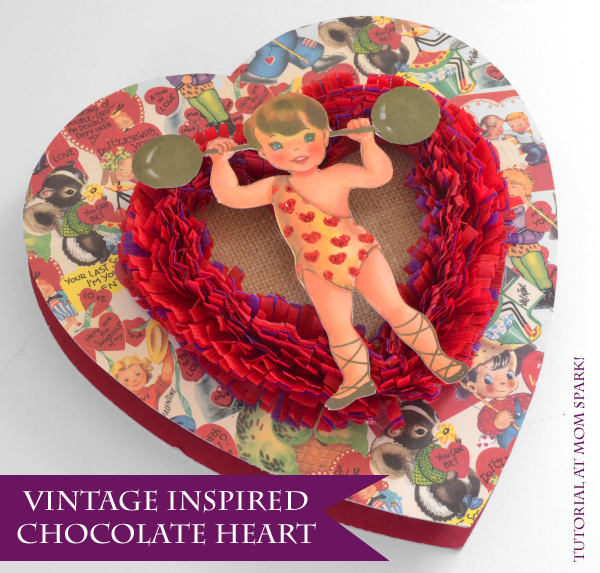 DIY Vintage Inspired Chocolate Heart
