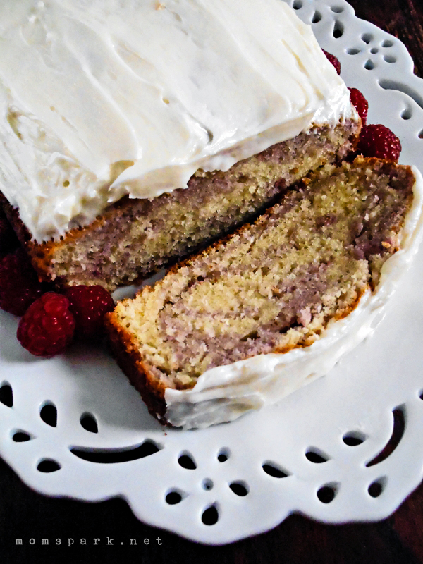 Starbucks Copycat - Raspberry Swirl Pound Cake with Cream Cheese Frosting Recipe