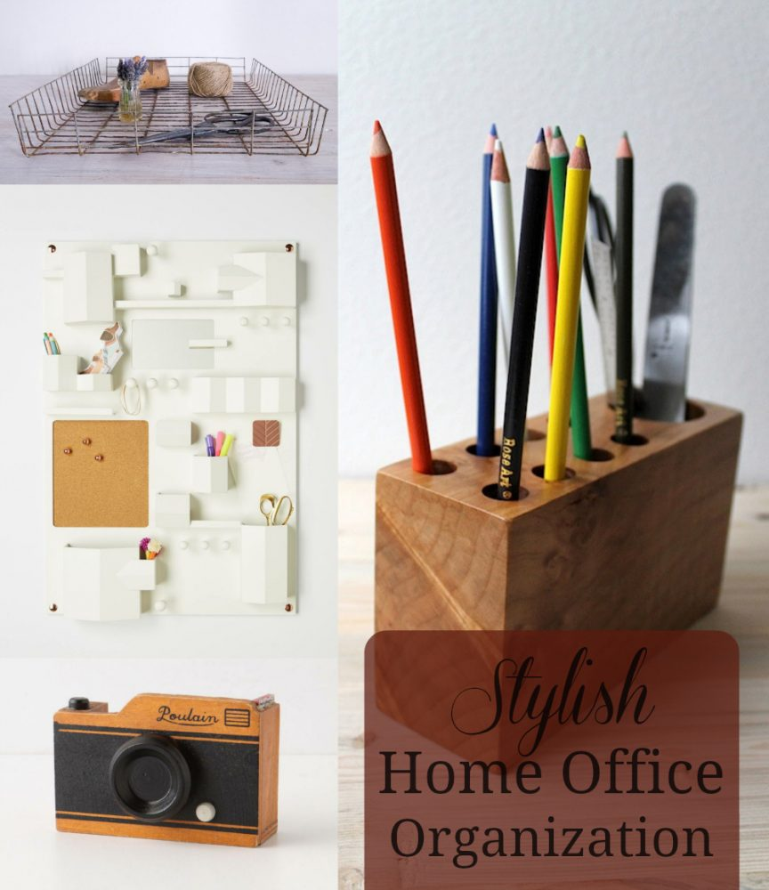 stylish home office organization mom spark a trendy