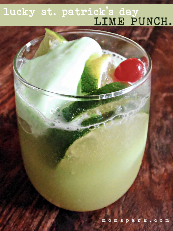 Lucky St. Patrick's Day Lime Punch