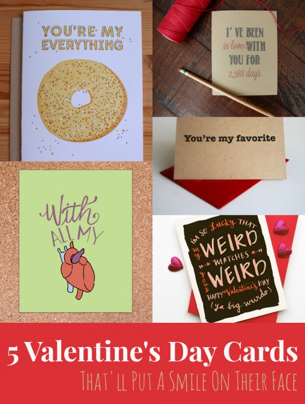5 Valentine's Day Cards That'll Put A Smile On Their Face