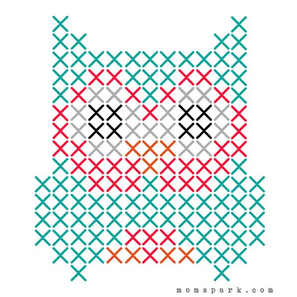 Embroidered Owl Burlap Canvas Tutorial