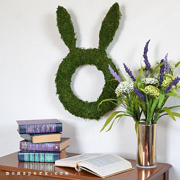 Simple Moss Bunny Wreath for Easter Tutorial | Mom Spark ...