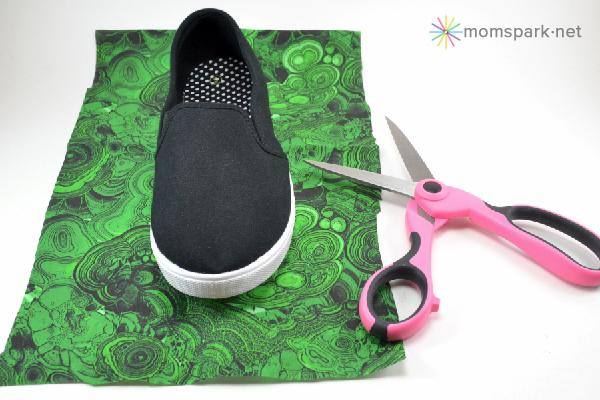 Shoe Makeover: Malachite Sneakers