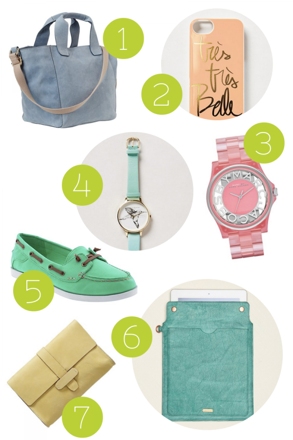 Fashion Friday: Pretty Pastel Accessories For Spring