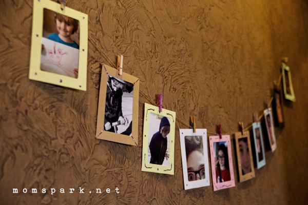 Family DIY: Paper Photo Frame Banner