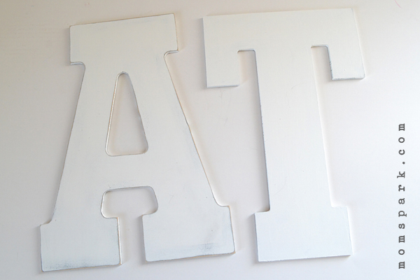 Distressed Large Letter Art Tutorial - EAT