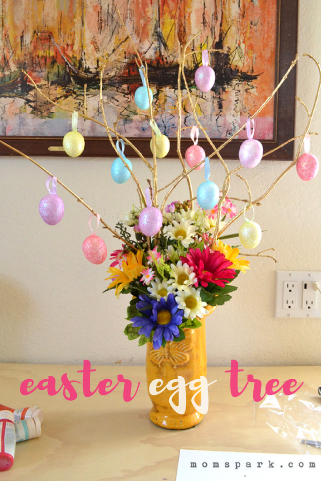 DIY Cheerful Easter Egg Tree Tutorial