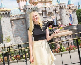 Elle Fanning of Disney's MALEFICENT Visits Disneyland!