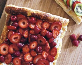 Strawberry and Raspberry Tart with Fluffy Lemon Curd Filling Recipe