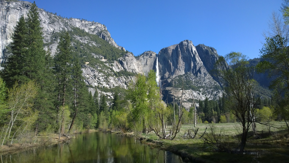 Yosemite National Park - Swinging Bridge and Merced River