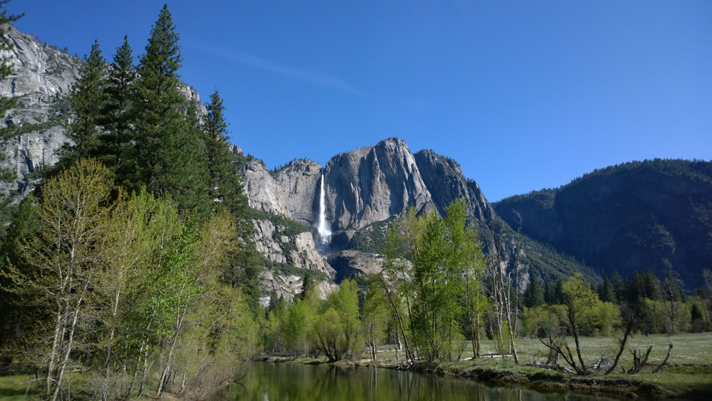 Yosemite National Park - Swinging Bridge and Merced River