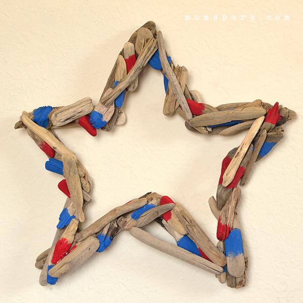 Patriotic Driftwood Star Wreath Tutorial