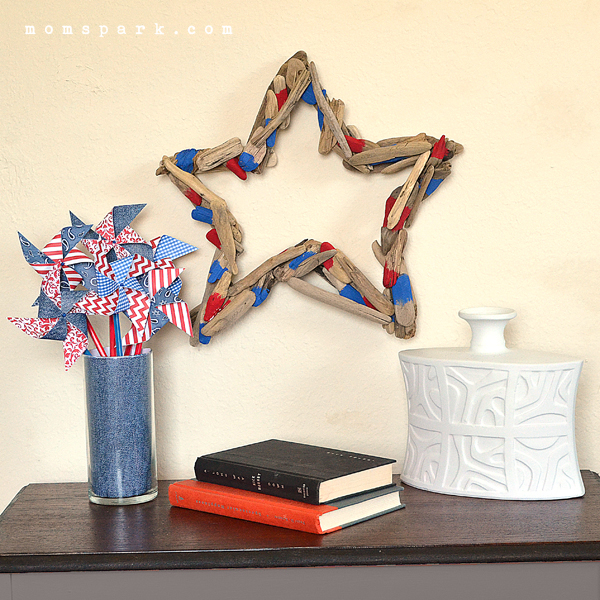 Patriotic Driftwood Star Wreath Tutorial