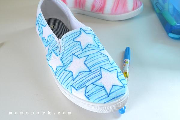 Shoe Makeover: Patriotic Watercolor Kicks