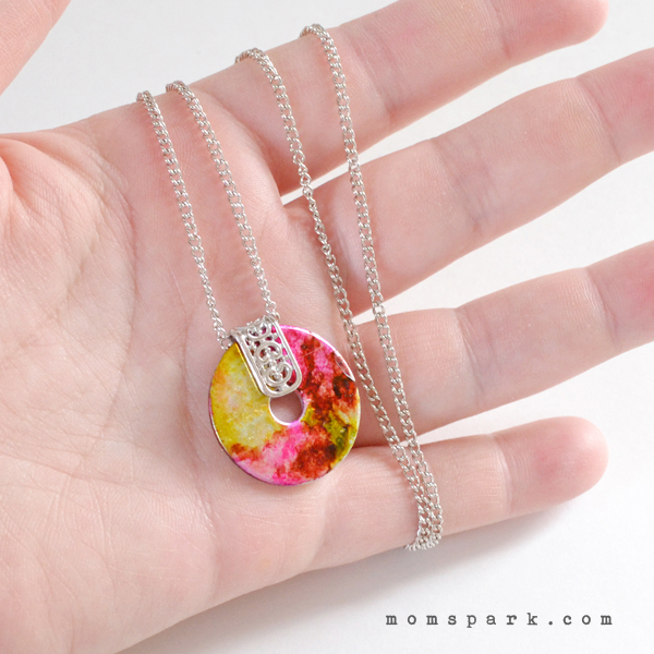 DIY: Marbled Washer Necklace Tutorial