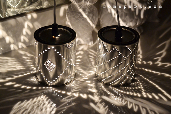DIY Quart Tin Can Punch Lanterns