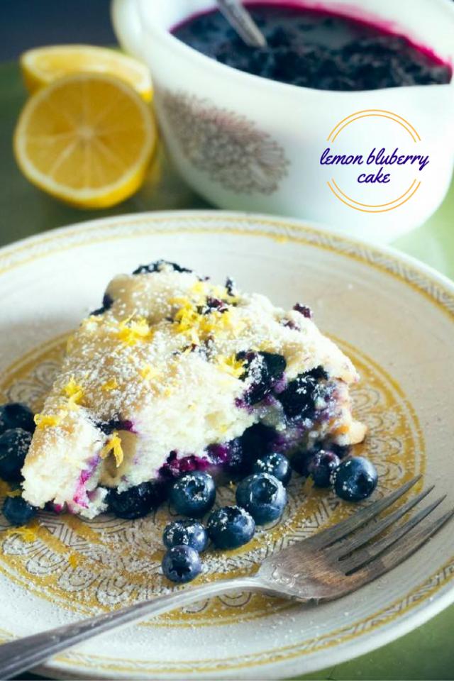 Easy Meyer Lemon and Blueberry Cake Recipe