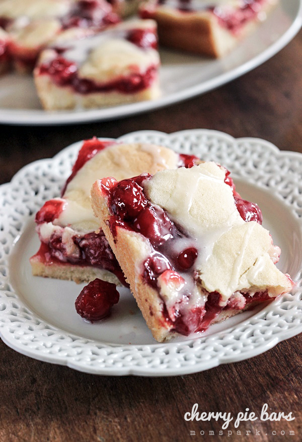 Simple & Sweet Cherry Pie Bars