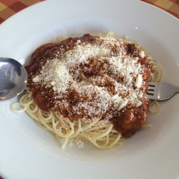 spaghetti bolognese from the GoodFare Italian Cafe