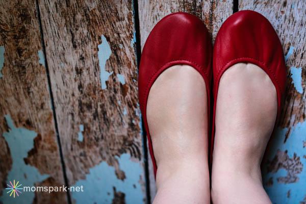 Red Tieks Ballet Flats
