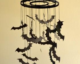 DIY Paper Bat Chandelier Tutorial