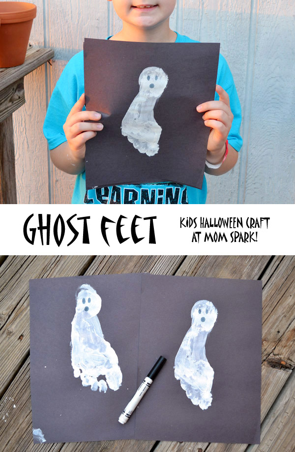 These Halloween ghost feet are a great keepsake!