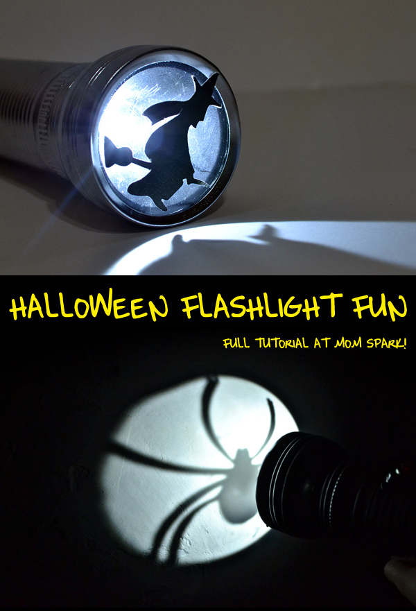 Go for some old school Halloween fun with a flashlight!