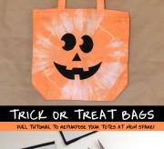 Repurpose old totes into fun trick or treat bags!