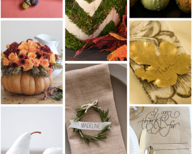 8 Ideas For Your Thanksgiving Table