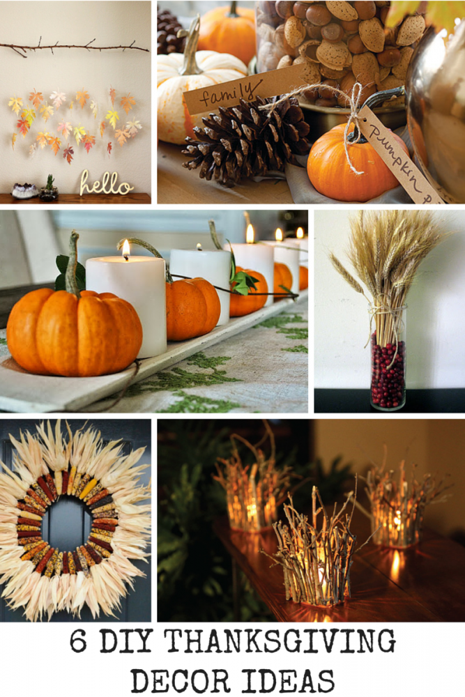 6 diy thanksgiving decor ideas mom spark mom blogger Thanksgiving decorating ideas