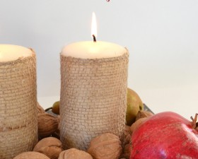 Simple Thanksgiving Centerpiece with Fresh Fruit!