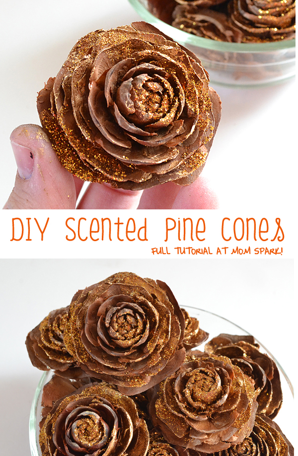 Make pretty decorative pine cones in your favorite scent!