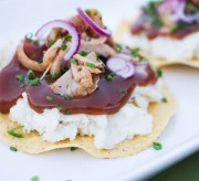 Leftover Turkey Tostadas