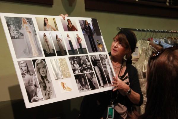 Gigi Melton holds idea board