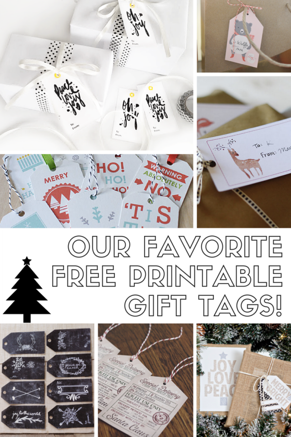 Our Favorite FREE Printable Gift Tags