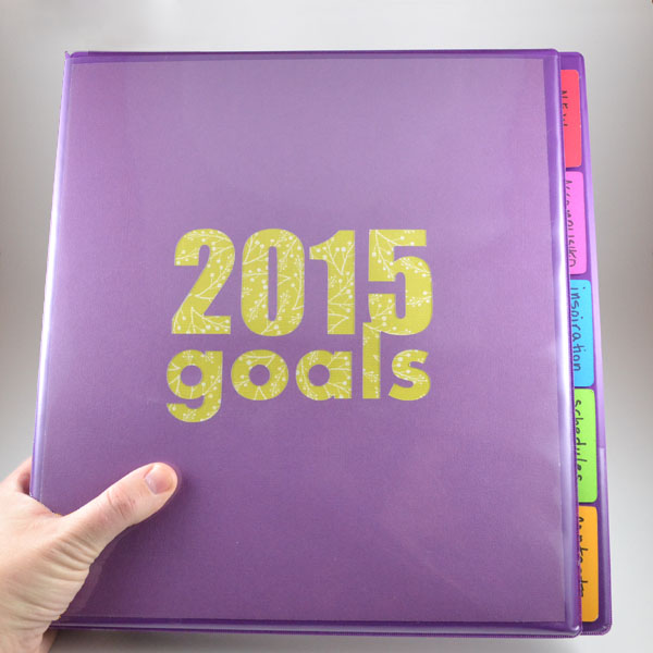 Keep track of your 2015 goals with these cut files for an organized goals binder!