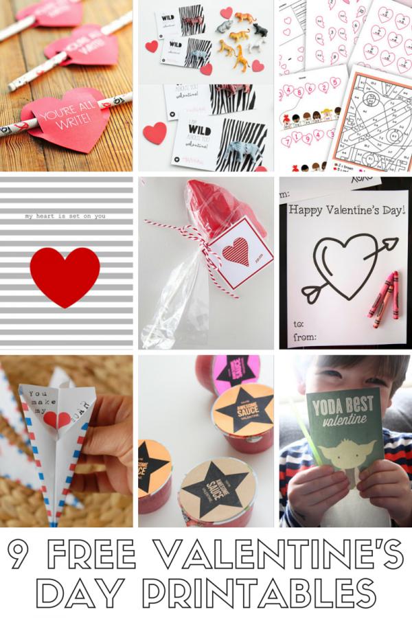 9 FREE Valentine's Day Printables!