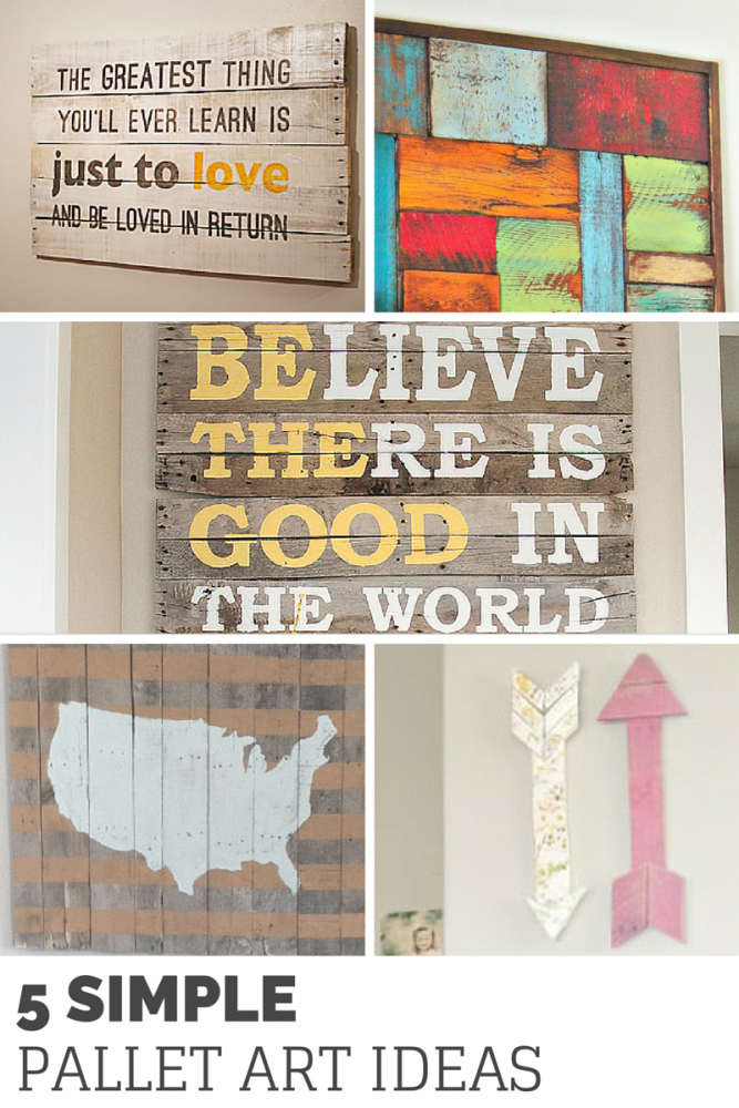 5 Simple DIY Pallet Art Ideas