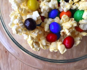 Butter Popcorn and M&M'S Snack