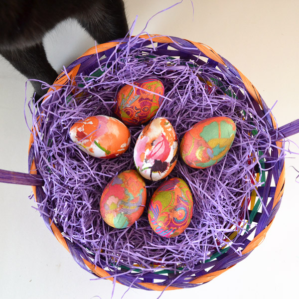 Make patterned Easter eggs out of your favorite paper napkins!