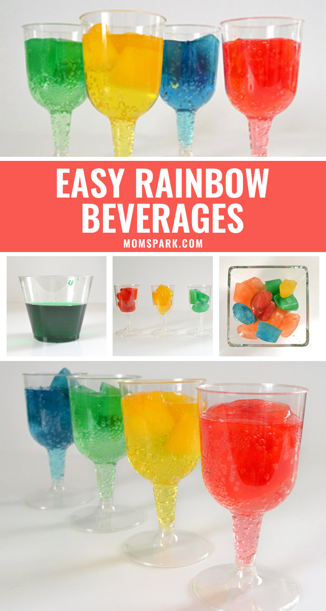 Easy Rainbow Party Drinks