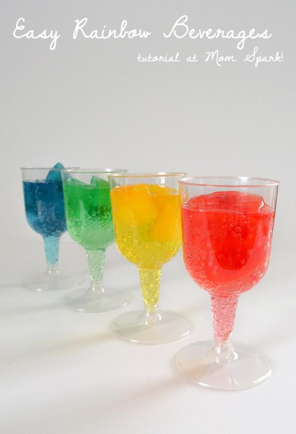 Easy Rainbow Beverages