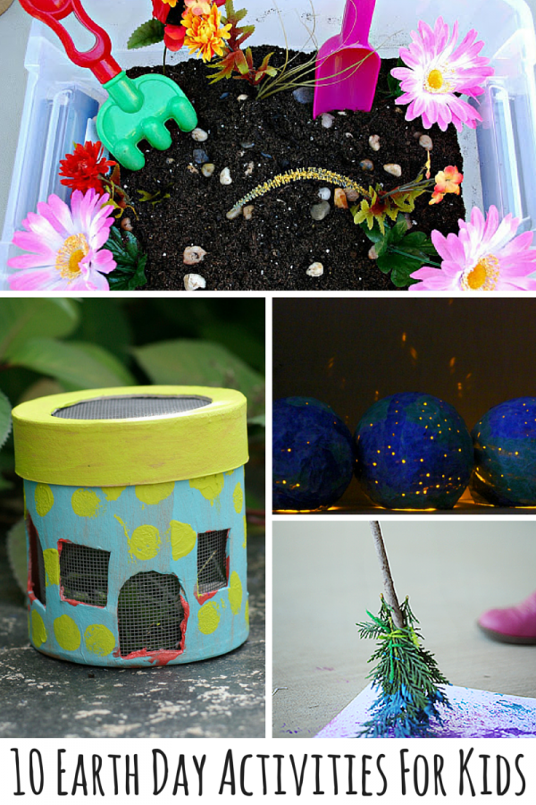 10 Earth Day Activities For Kids! With Earth Day is coming up right around the corner, why not plant the seeds of environmental-friendliness in a creative way with your kids! Kids love to know they are helping out and being able to take small steps to help the Earth is such a big deal to them -- as it should be to everyone! These Earth Day crafts and activities will get your whole family thinking about Mother Nature!