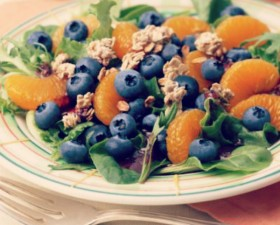 blueberry-granola-salad